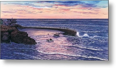Sunset At Children's Pool Metal Print by John YATO