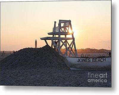 Sunset At Jones Beach Metal Print by John Telfer