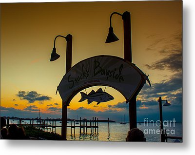 Sunset At Snooks Bayside Metal Print by Rene Triay Photography