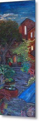 Sunset At The Villa Metal Print by Dixie Adams