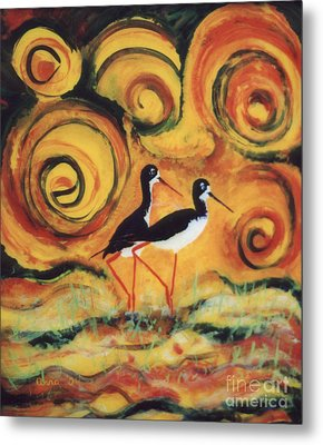 Sunset Ballet Metal Print by Anna Skaradzinska
