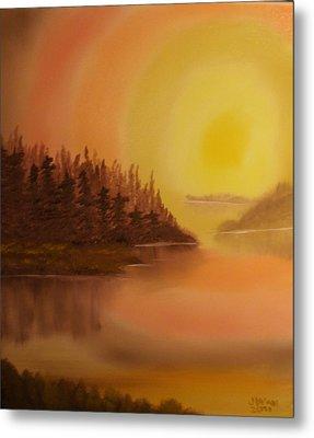 Sunset Brown Island  Metal Print by James Waligora