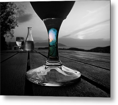 Sunset Cafe Metal Print by Micki Findlay
