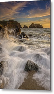 Sunset Churning Metal Print by Rick Berk