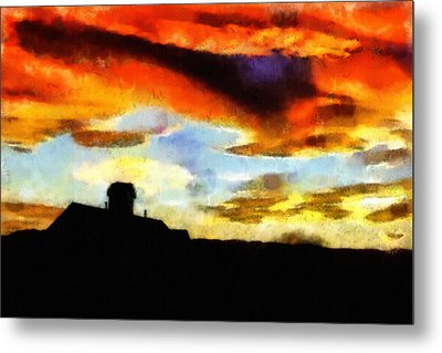 Sunset Colours Metal Print by Ayse Deniz