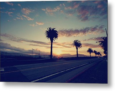 Sunset Drive Metal Print by Laurie Search