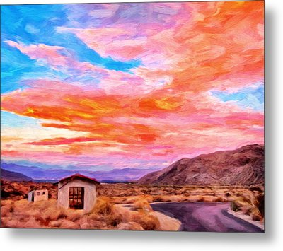 Sunset From Palm Canyon Metal Print by Michael Pickett