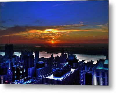 Sunset From The Empire State Building Metal Print by Randy Aveille
