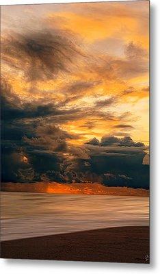 Sunset Grandeur Metal Print by Lourry Legarde