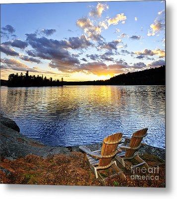 Sunset In Algonquin Park Metal Print by Elena Elisseeva
