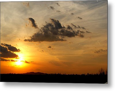 Sunset In Bavarian Forest Metal Print by Adam  S