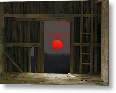 Sunset In Leraysville Metal Print by David Simons