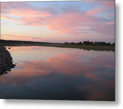 Sunset In Pink And Blue Metal Print by Melissa McCrann
