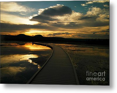 Sunset In Yellow Stone Metal Print by Jeff Swan