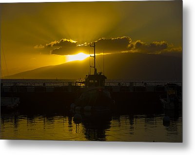 Sunset Lahaina Marina Metal Print by Norman Blume