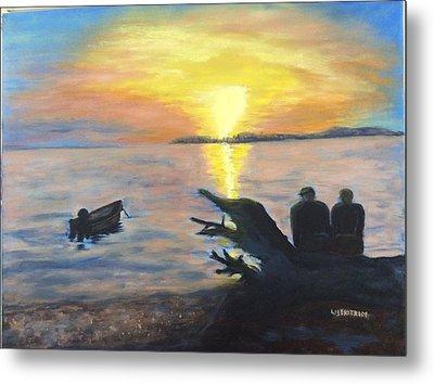 Sunset On Birch Bay Metal Print by Liz  Ekstrom