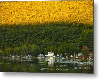 Sunset On Canandaigua Lake Metal Print by Steve Clough