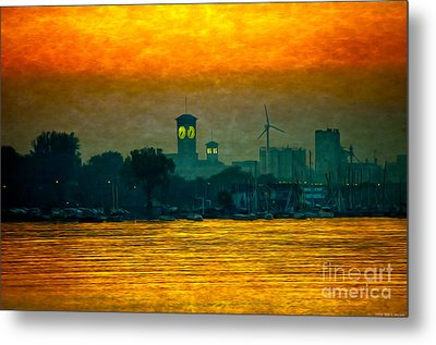 Sunset On Milwaukee's South Side  Metal Print by Mary Machare