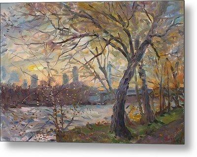 Sunset On Niagara River  Metal Print by Ylli Haruni