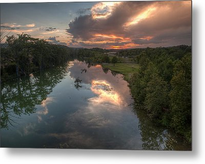 Sunset On The Guadalupe River Metal Print by Paul Huchton