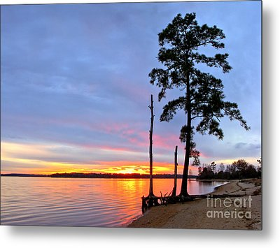 Sunset On The James River Metal Print by Olivier Le Queinec