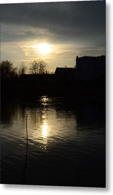 Sunset On The River Metal Print by Samantha Morris