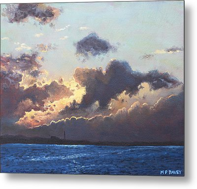 Sunset On The Solent Metal Print by Martin Davey