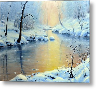 Sunset On The Sunrise River Metal Print by Rick Hansen