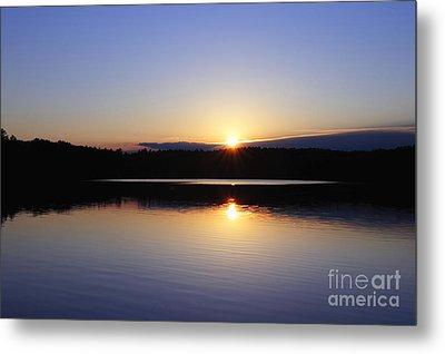 Sunset On Walden Pond Metal Print by John Greim