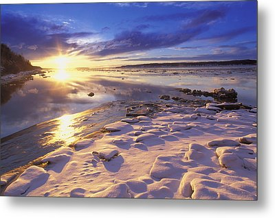 Sunset Over Knik Arm & Six Mile Creek Metal Print by Michael DeYoung