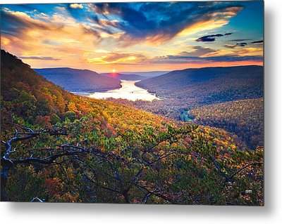 Sunset Over Mullins Cove Metal Print by Steven Llorca