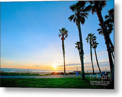 Sunset Over Santa Barbara Metal Print by Artist and Photographer Laura Wrede