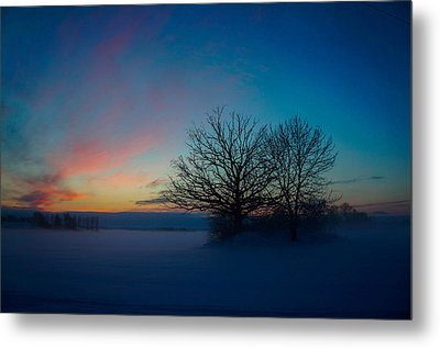 Sunset Over Sattuna Metal Print by Jonas Lind