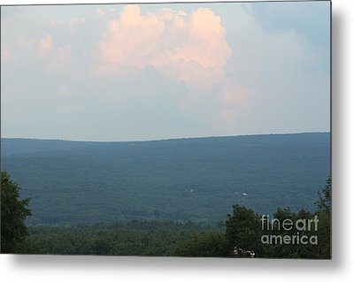 Sunset Over The Catskill Mountains Metal Print by John Telfer