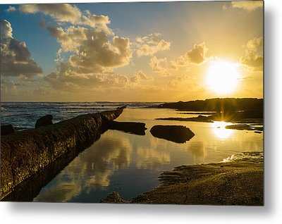 Sunset Over The Ocean II Metal Print by Marco Oliveira