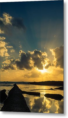 Sunset Over The Ocean Iv Metal Print by Marco Oliveira