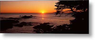 Sunset Over The Sea, Point Lobos State Metal Print by Panoramic Images