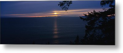 Sunset Over The Sea, Strait Of Juan De Metal Print by Panoramic Images