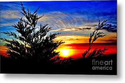 Sunset Overlooking Pacifica Ca Vi Metal Print by Jim Fitzpatrick