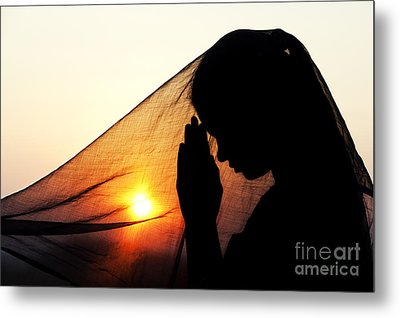 Sunset Prayers Metal Print by Tim Gainey