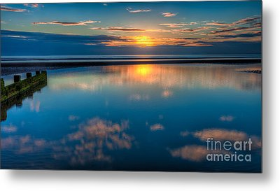 Sunset Reflections Metal Print by Adrian Evans