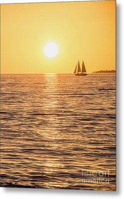 Sunset Sail Metal Print by Jon Neidert