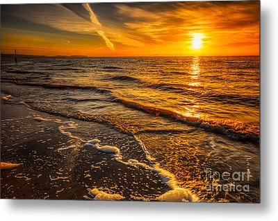 Sunset Seascape Metal Print by Adrian Evans