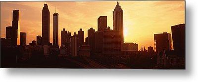 Sunset Skyline, Atlanta, Georgia, Usa Metal Print by Panoramic Images
