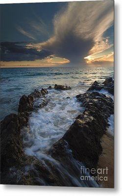 Sunset Spillway Metal Print by Mike  Dawson