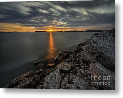 Sunset Storm Metal Print by James Dean