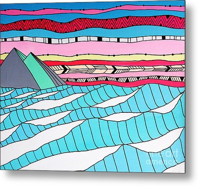 Sunset Surf Metal Print by Susan Claire