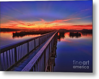Sunset Walkway Metal Print by Beth Sargent