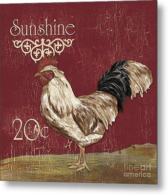 Sunshine Rooster Metal Print by Debbie DeWitt