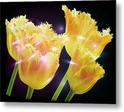 Sunshine Tulips Metal Print by Debra  Miller